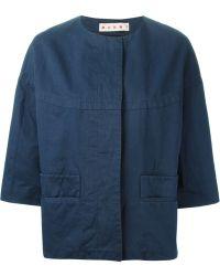 Marni Cropped Jacket - Lyst