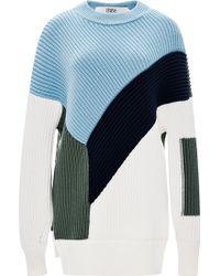 Prabal Gurung Color-Block Ribbed Wool Sweater - Lyst
