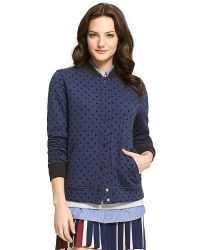 Tommy Hilfiger Quilted Dot Varsity Jacket - Lyst