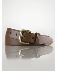 Ralph Lauren Classic Leather Belt - Lyst