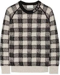 3.1 Phillip Lim Embellished Metallic Wool and Cashmereblend Sweater - Lyst