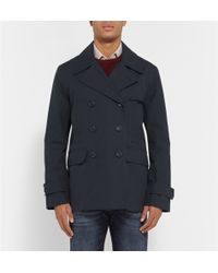 Gieves & Hawkes Blue Cotton Jacket - Lyst