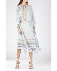 BCBGMAXAZRIA Jaelyn Asymmetrical Scarf Print Dress - Lyst