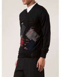 Junya Watanabe Patched Sweater - Lyst