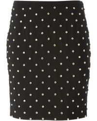 Moschino Embellished Skirt - Lyst