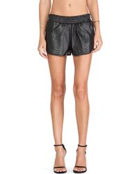 Lovers + Friends Black Soccer Short - Lyst