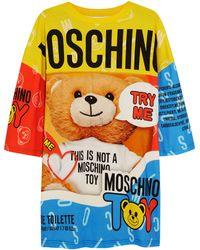 Moschino Printed Cotton-Jersey T-Shirt Dress - Lyst