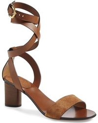 Gucci Candy Suede and Leather Sandals - Lyst