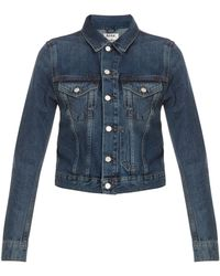 Acne Studios Tag Vintage Denim Jacket - Lyst