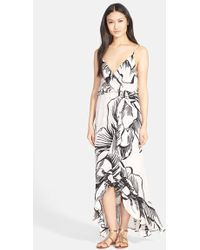 Parker 'Halle' High/Low Print Silk Maxi Dress - Lyst