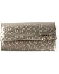 Gucci Ssima Embossed Wallet - Lyst