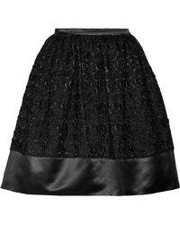 Temperley London Halenia Floral-appliquãd Cotton and Silk-blend Skirt - Lyst