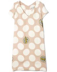 Kenzo Dots & Logo Dress - Lyst