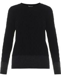 Vince Colour-Block Cable-Knit Sweater - Lyst
