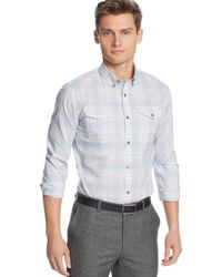 Calvin Klein Plaid Slim-fit Shirt - Lyst