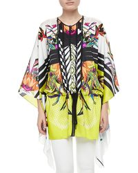 Just Cavalli Printed Silk Caftan - Lyst