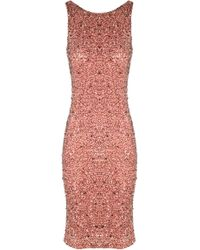 Alice + Olivia Kimber Embellished Fitted Dress - Lyst