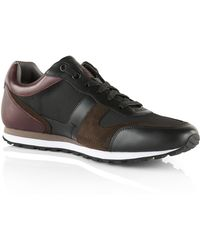 BOSS | 'runbio Tex' | Calfskin Sneakers | Lyst