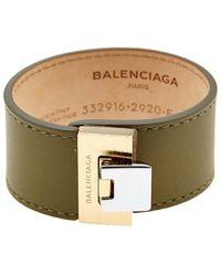 Balenciaga Le Dix Leather Cuff khaki - Lyst