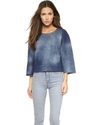 Cheap Monday Strike Sweatshirt - Blue Big Bleach - Lyst