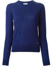 Kenzo Slit Neck Sweater - Lyst