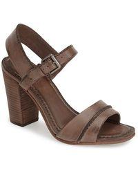 Frye 'Portia' Ankle Strap Sandal brown - Lyst
