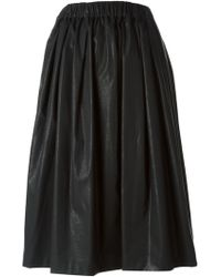 MSGM Faux Leather Full Skirt - Lyst
