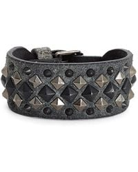 Frye - 'deborah' Studded Leather Cuff Bracelet - Lyst
