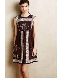 Anna Sui Folia Silk Dress - Lyst