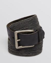 John Varvatos Distressed Fabric & Leather Belt - Lyst
