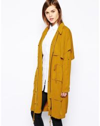 Y.a.s Forest Soft Parka in Tencel - Lyst