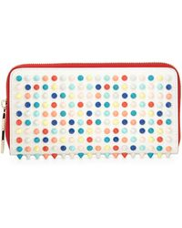 Christian Louboutin Panettone Spiked Zip Wallet Multicolor - Lyst