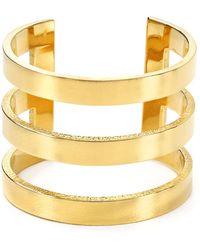 Jennifer Zeuner Yvette Three Band Ring gold - Lyst