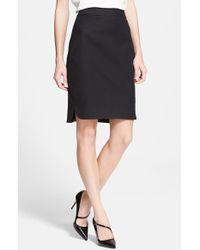 Kate Spade Cotton-Blend Pencil Skirt - Lyst