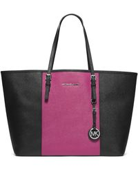 Michael by Michael Kors Medium Jet Set Travel Striped Multifunction Tote - Lyst