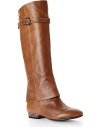 Chinese Laundry Cognac Set In Stone Boots - Lyst
