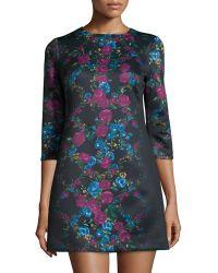 Cynthia Steffe Blythe Floral-Print Shift Dress - Lyst