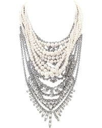 Tom Binns - Crystal Pearl Layered Necklace - Lyst
