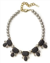 Jaeger - Pearl And Crystal Necklace - Lyst