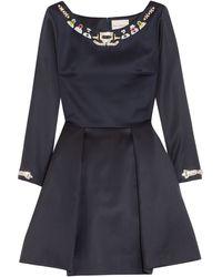 Mary Katrantzou Copelia Embellished Wool Mini Dress - Lyst