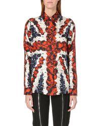 Jean Paul Gaultier Union Jack Silksatin Shirt Multi - Lyst