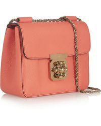 Chloé Elsie Small Textured-leather Shoulder Bag - Lyst