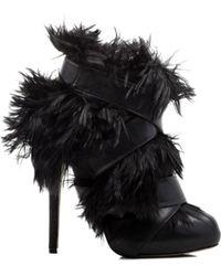 Chrissie Morris Claudia Alpaca Fur Bootie In Black black - Lyst