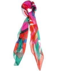 Alexander McQueen Pink Logo-Print Scarf - Lyst