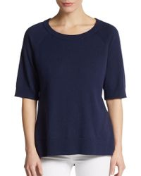 Michael Kors Cashmere/Cotton Raglan-Sleeve Pullover - Lyst