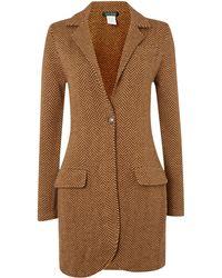 Lauren by Ralph Lauren - Long Sleeve Merino Wool Coat - Lyst