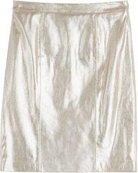 Steffen Schraut Glam Metallic Leather Skirt - Lyst