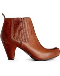 Gardenia - Leather Heeled Ankle Boots - Lyst