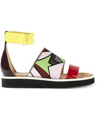 Nicholas Kirkwood X Peter Pilotto Printed Sandals multicolor - Lyst