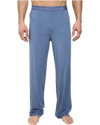 Calvin Klein Micro Modal Pant blue - Lyst